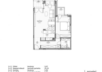 1. emelet - kerti