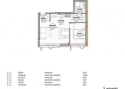 3. emelet - utcai 3.1