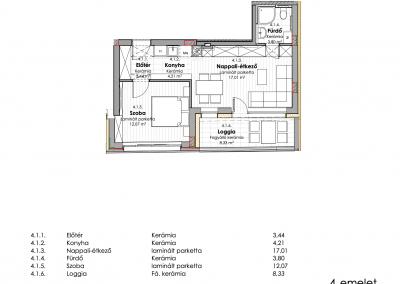 4. emelet - utcai 4.1